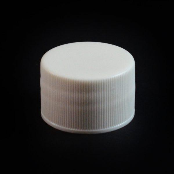 Plastic Cap 28-410 Ribbed White_2797