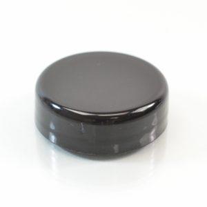 Plastic Cap 33mm Dome Smooth Black_2593