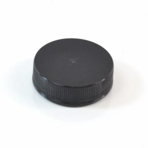 Plastic Cap 38-400 RS Black Ribbed_2868