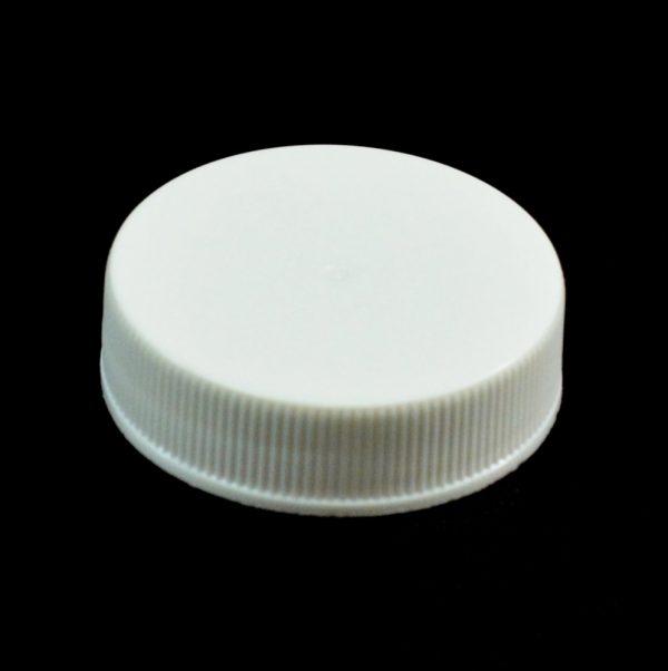 Plastic Cap 38-400 RS White Ribbed_2803