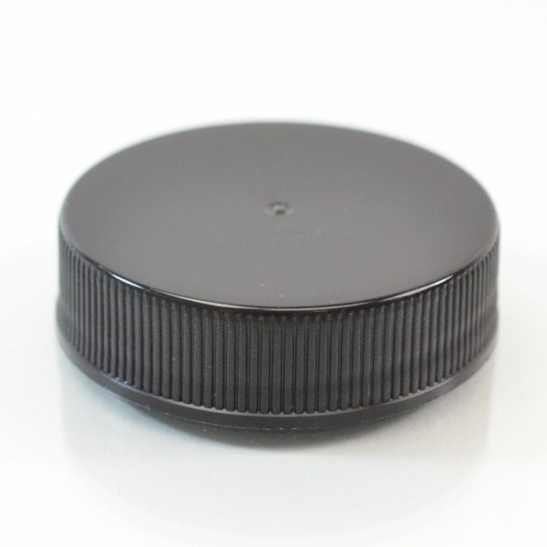 Plastic Cap 38mm Ribbed Black RS_2867