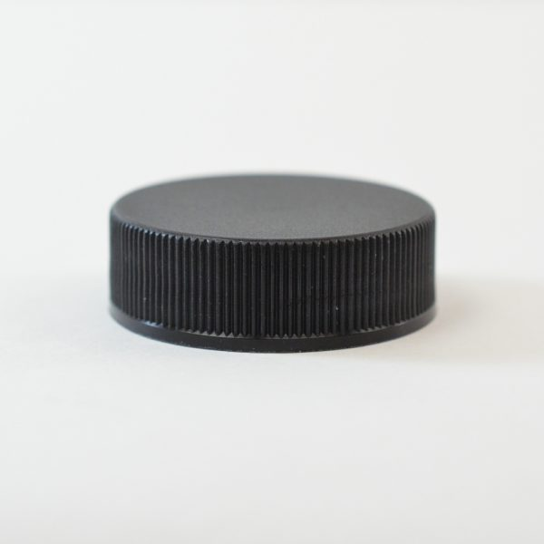 Plastic Cap 43-400 Ribbed Black_2870