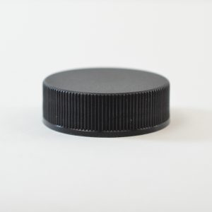 Plastic Cap 45-400 Ribbed Black_2873