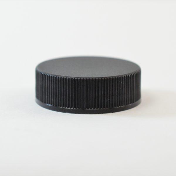 Plastic Cap 45-400 Ribbed Black_2873