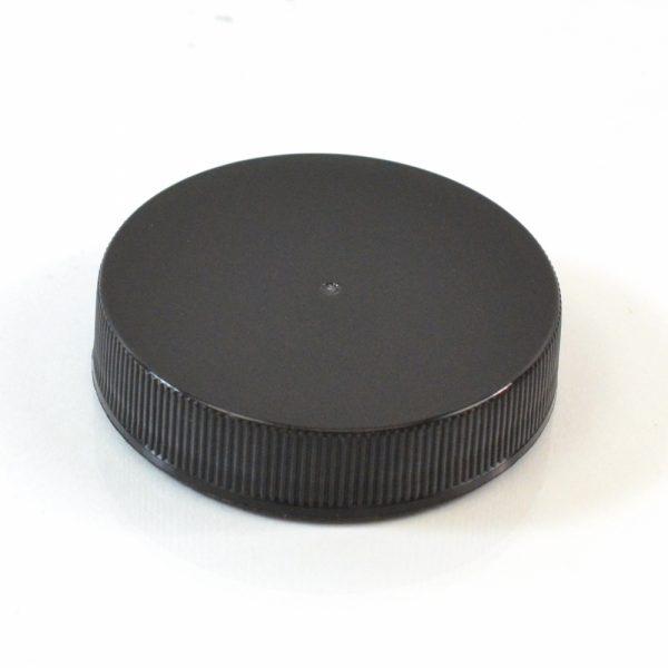 Plastic Cap 48-400 RS Black Ribbed_2879