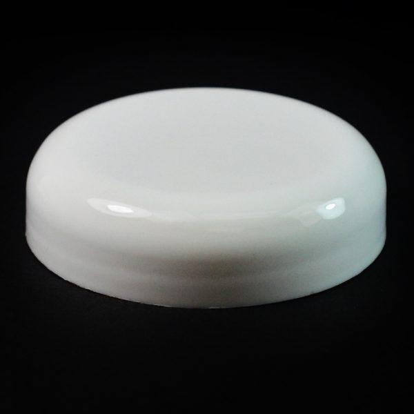Plastic Cap 58mm Dome Smooth White_2600