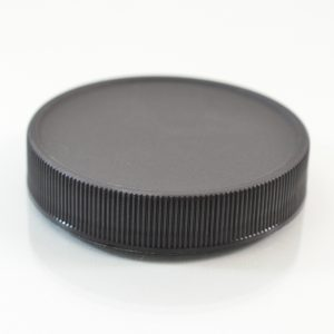 Plastic Cap 58mm Ribbed Black RM_2883