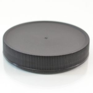 Plastic Cap 63mm Ribbed Black RM_2888