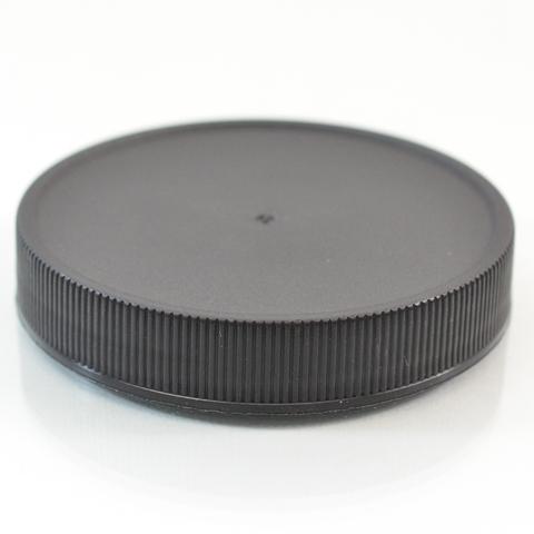 Plastic Cap 63mm Ribbed Black RM_2888
