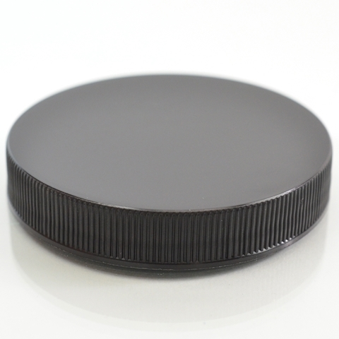 Plastic Cap 63mm Ribbed Black RS_2886