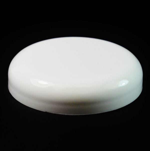 Plastic Cap 70mm Dome Smooth White_2602