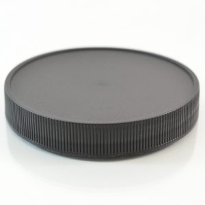 Plastic Cap 83mm Ribbed Black RM_2893