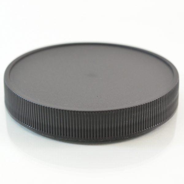 Plastic Cap 83mm Ribbed Black RM_2893