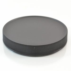 Plastic Cap 89mm Ribbed Black RM_2895