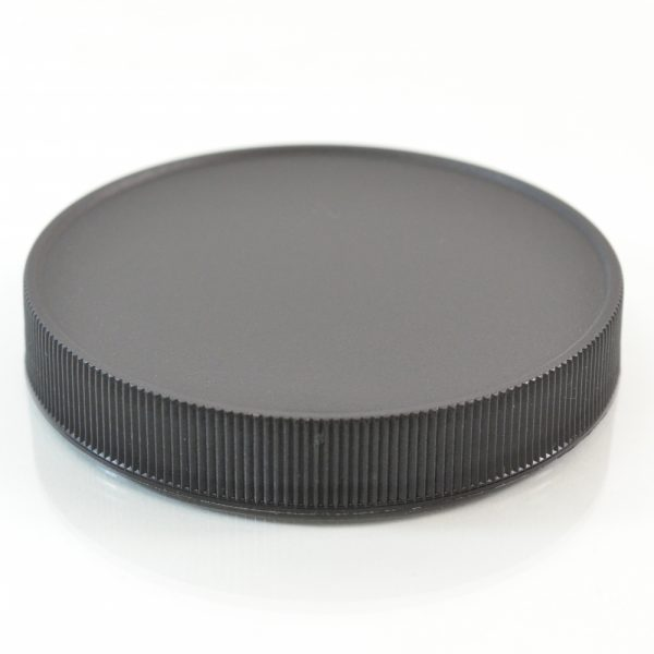 Plastic Cap 89mm Ribbed Black RM_2897