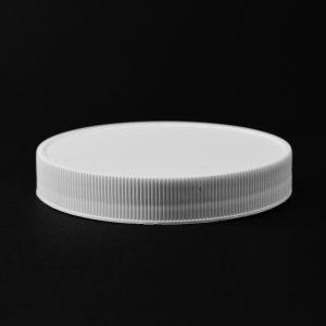 Plastic Cap CT Fine Ribbed White PP 100-400 RM_2833