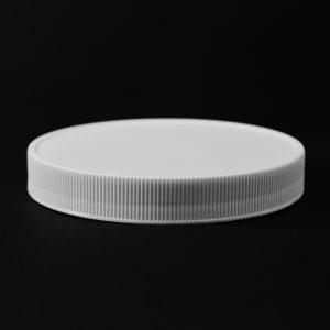 Plastic Cap CT Fine Ribbed White PP 110-400 RM_2838