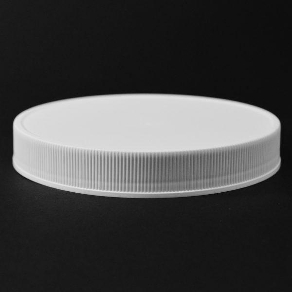 Plastic Cap CT Fine Ribbed White PP 120-400 RM_2839