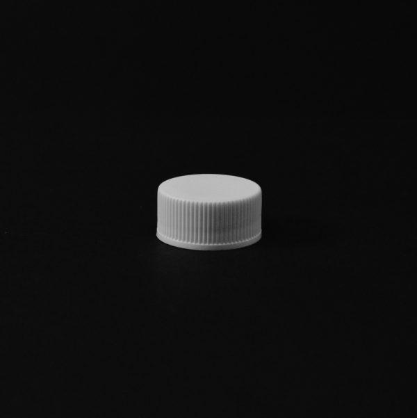 Plastic Cap CT Fine Ribbed White PP 20-400 RX_2779
