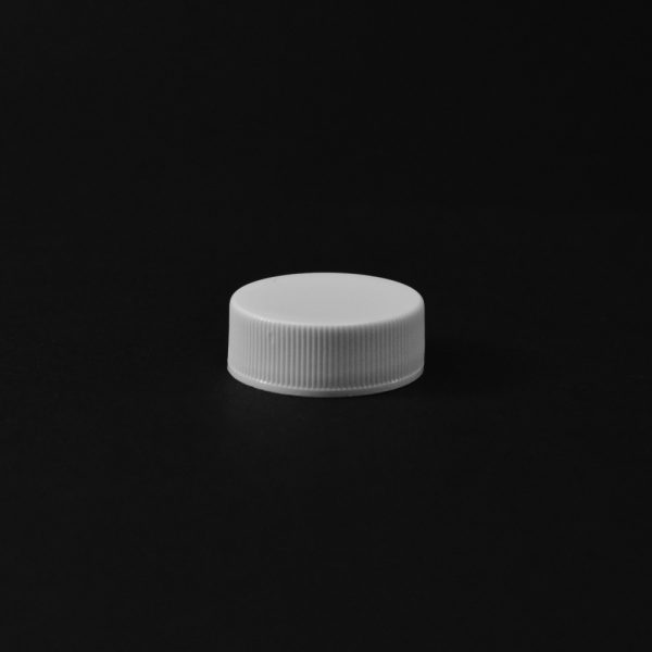 Plastic Cap CT Fine Ribbed White PP 28-400 RX_2794