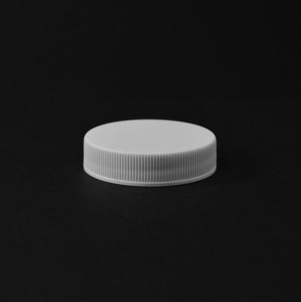 Plastic Cap CT Fine Ribbed White PP 45-400 RX_2807