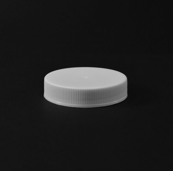 Plastic Cap CT Fine Ribbed White PP 48-400 RS_2810