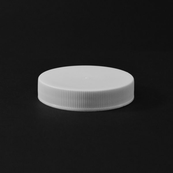 Plastic Cap CT Fine Ribbed White PP 53-400 RS_2814