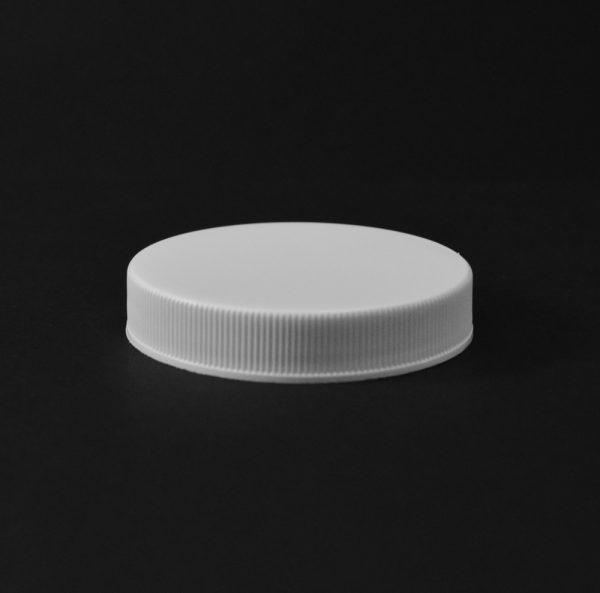 Plastic Cap CT Fine Ribbed White PP 58-400 RS_2816