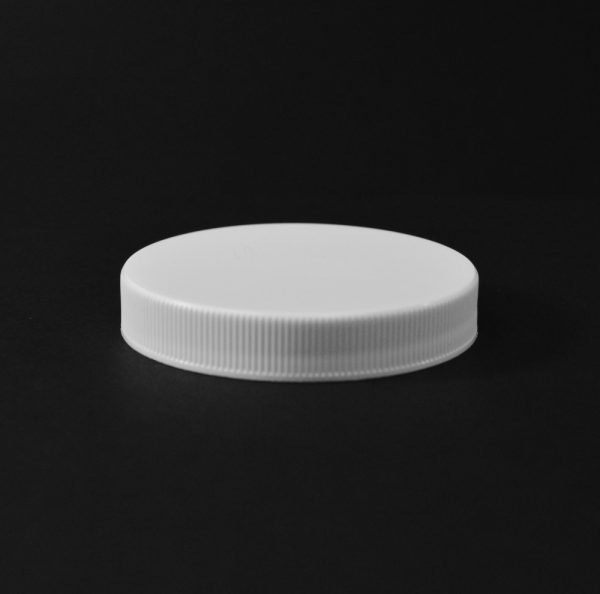 Plastic Cap CT Fine Ribbed White PP 63-400 RS_2821