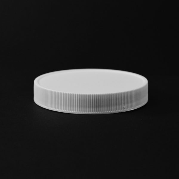 Plastic Cap CT Fine Ribbed White PP 83-400 RM_2827