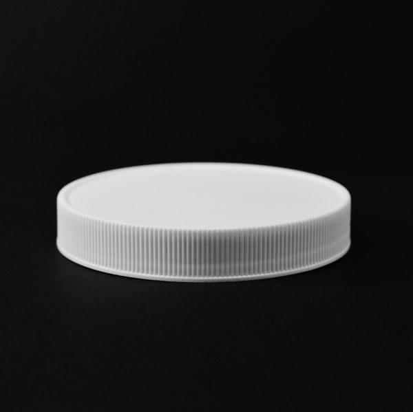 Plastic Cap CT Fine Ribbed White PP 89-400 RM_2832