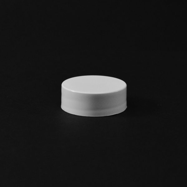 Plastic Cap CT Smooth White PP 22-400 S_2651