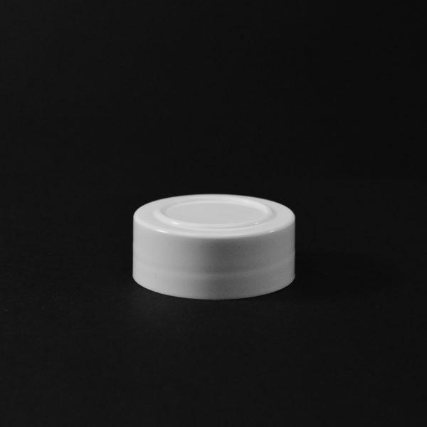 Plastic Spice Cap CT Smooth White PP 43-485 SI_2633