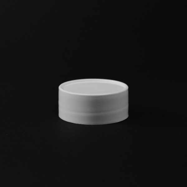 Plastic Spice Cap CT Smooth White PP 43-485 SO_2634
