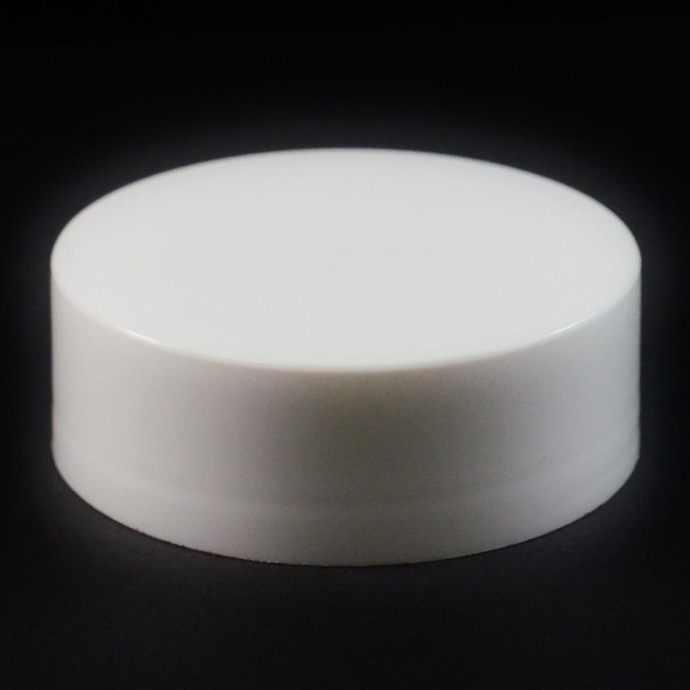 58/400 White Flat Extra Tall Symmetrical Cap