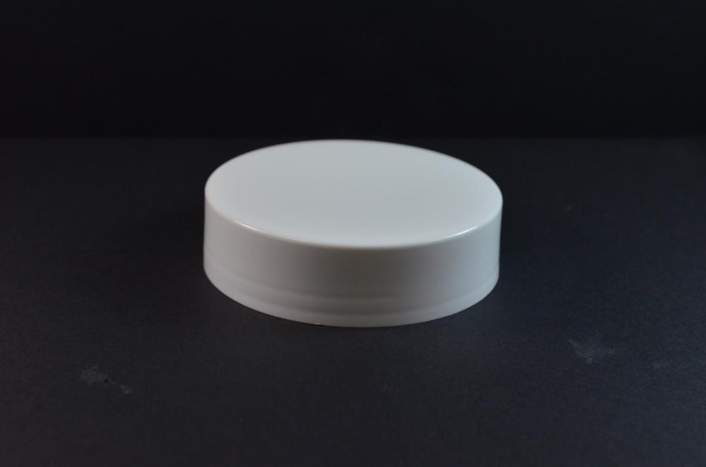 89/400 White Flat Extra Tall Symmetrical Cap