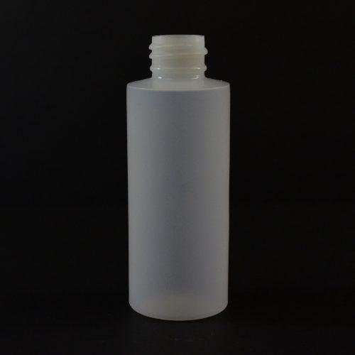 2oz White Cylinder Round 24-410 HDPE