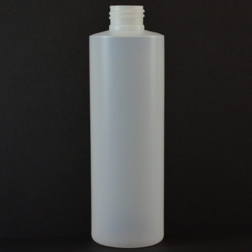 8oz Natural Cylinder Round 24-410 HDPE