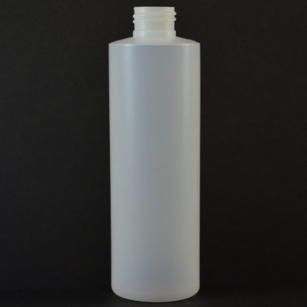 8oz Natural Cylinder Rounds 24-410 HDPE