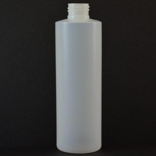8oz Natural Cylinder Rounds 24-410 HDPE