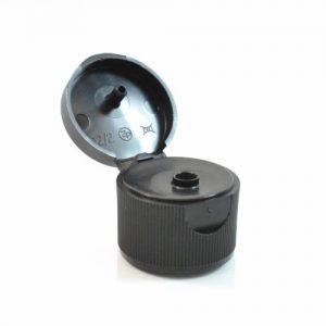Plastic Cap 20-410 Smooth Black PP (1)_2716