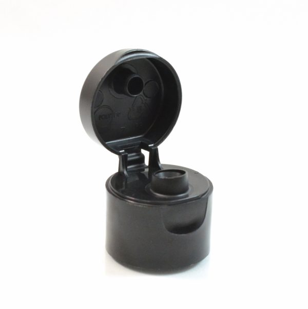 24-410 Black Smooth Flip-Top