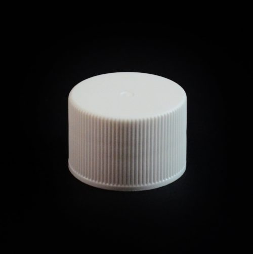 24-410 White Ribbed Screw Closure